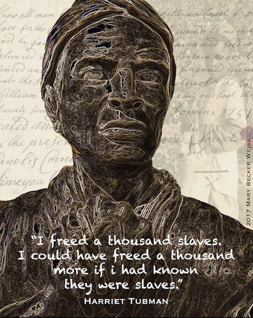 """Portrait of Harriet Tubman"" © Mary Becker Weiss"