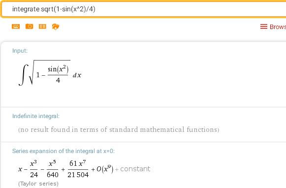 Вычисление интегралов онлайн. Неберущийся интеграл.