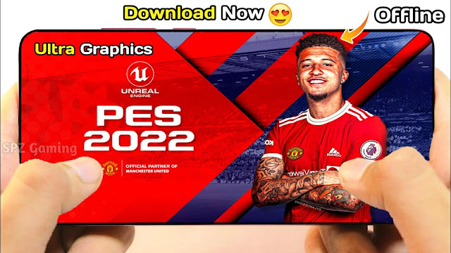 Download PES 2022 Mobile Offline Android Best Graphics New Menu Full Original Logo and Kits 2022