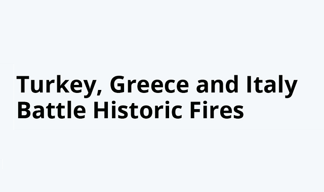 The most recent historic wildfires in the world