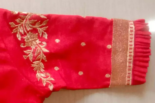 Ready Made Embroidery Designs Blouse sleeves