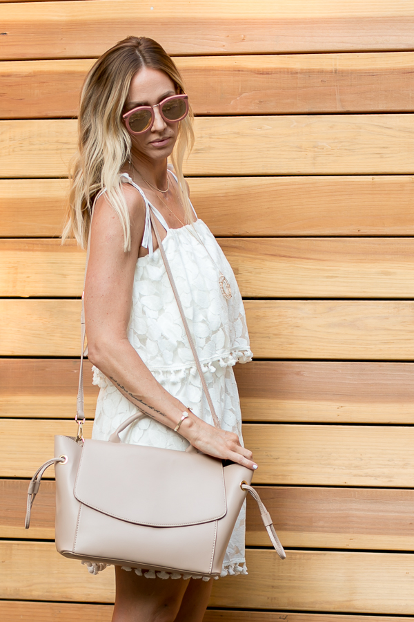 blush satchel cross body
