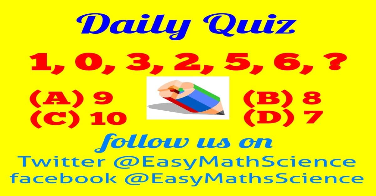 Maths Daily Quiz Question 4