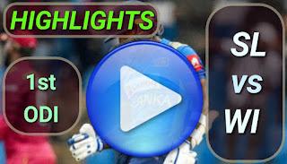 SL vs WI 1st ODI 2020