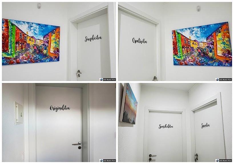 Portas dos quartos no Hotel Infusion - onde ficar em Óbidos