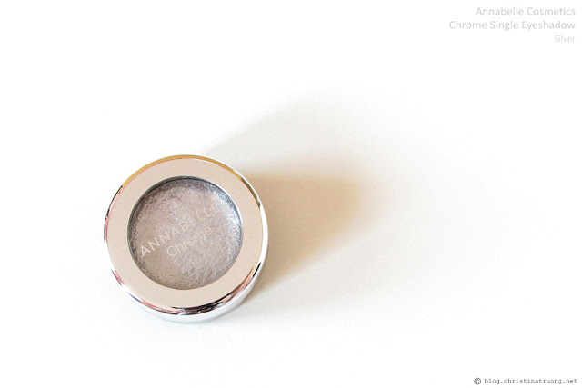 Annabelle Cosmetics Chrome Single Eyeshadow Review and Swatch in Silver