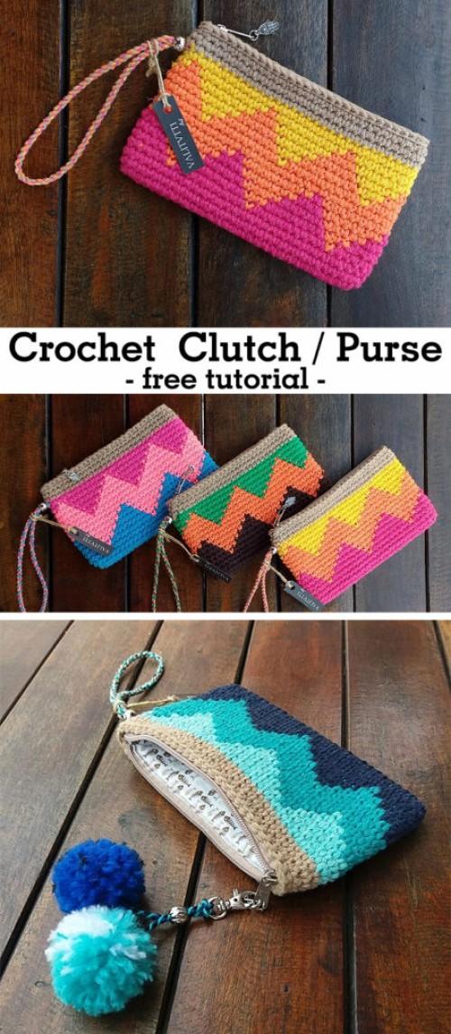Crochet Clutch - Free Tutorial