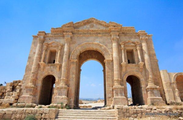 Arco de Adriano (Jerash, Jordania)