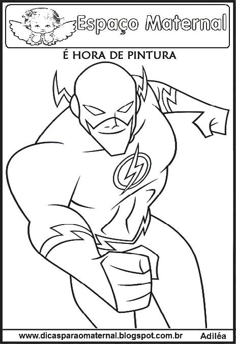 desenhos do the flash para imprimir e colorir espaço maternal
