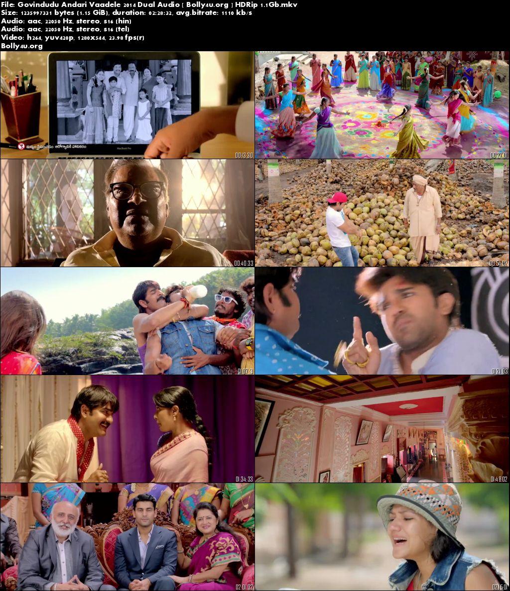 Govindudu Andari Vaadele 2014 HDRip 1.1Gb 720p Hindi Dual Audio Worldfree4u