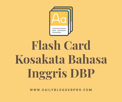 Flash Card Kosakata Bahasa Inggris Daily Blogger Pro