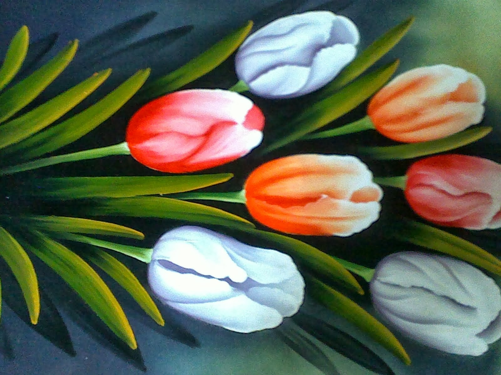 Sketsa Lukisan Gambar Bunga Tulip Garlerisket Besthanukkahgiftsco
