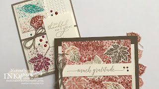 By Angie McKenzie for Crafty Collaborations Share it Sunday Blog Hop; Click READ or VISIT to go to my blog for details! Featuring the Gorgeous Leaves Bundle, Pretty Pumpkins Stamp Set and Greenery Embossing Folders by Stampin' Up!; #fallcards #lotsofleaves #leaves #stampinupcolorcoordination #stamping #shareitsunday #shareitsundaybloghop #intricatedleaves #prettypumpkins #gorgeousleaves  #splatters #julydecember2021minicatalog #20212022annualcatalog #naturesinkspirations #makingotherssmileonecreationatatime #cardtechniques #stampinup #stampinupink #handmadecards #papercrafts