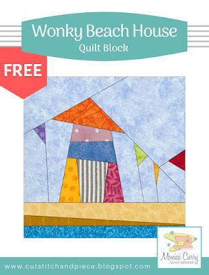 FREE - Wonky Beach House Quilt Block Pattern