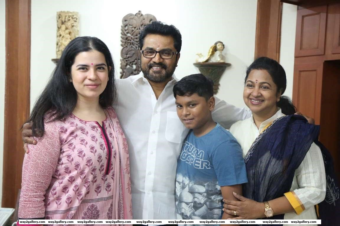 Tamil actor R Sarathkumar celebrated his nd birthday with family and friends
