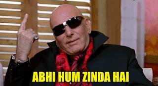 abhi hum zinda hai, Feroz khan as RDX | best meme templates from welcome movie + dialogue