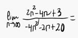 7. Límite de una sucesión (Cociente de polinomios) 2