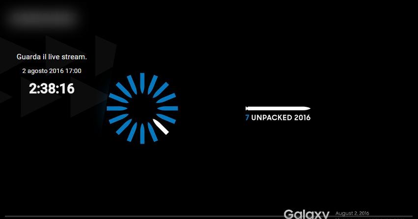 Diretta Streaming presentazione nuovo Samsung Galaxy Note 7 HTNovo