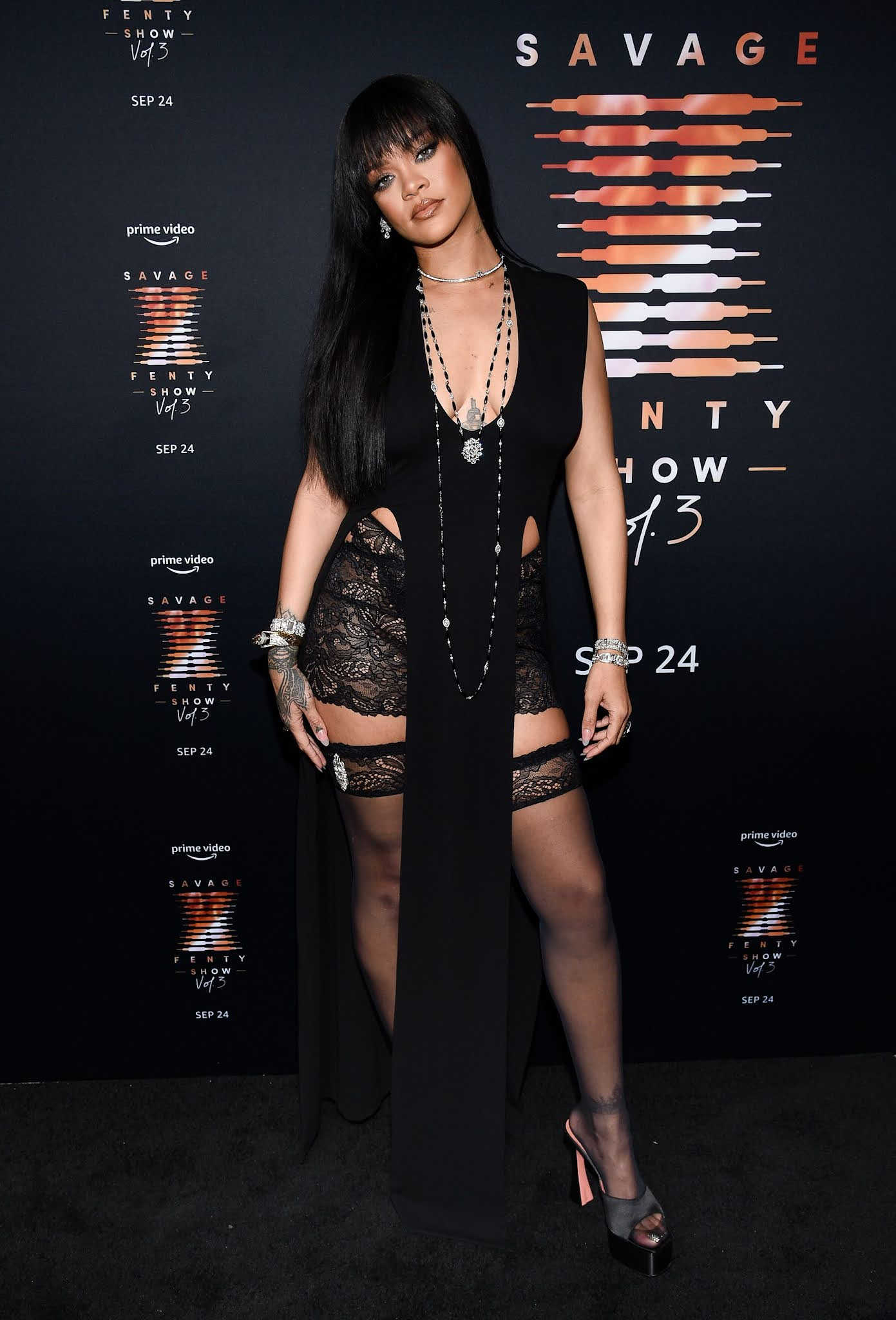 Rihanna at the Savage x Fenty Show Vol. 3 premiere in New York