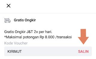 gratis ongkir benefit