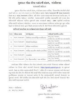GSSSB (Gujarat Gaun Seva Pasandgi Mandal) Declared Various Posts Exam Date 2021.