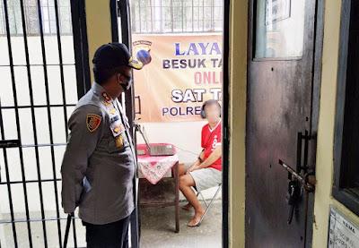 Cegah Penyebaran Corona, Polres Wonogiri Siapkan Fasilitas Besuk Tahanan Online