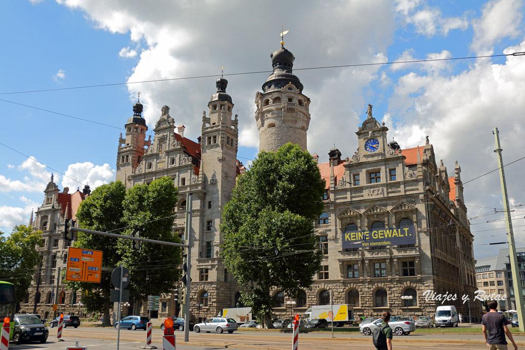 Ayuntamiento Nuevo, Leipzig, Alemania