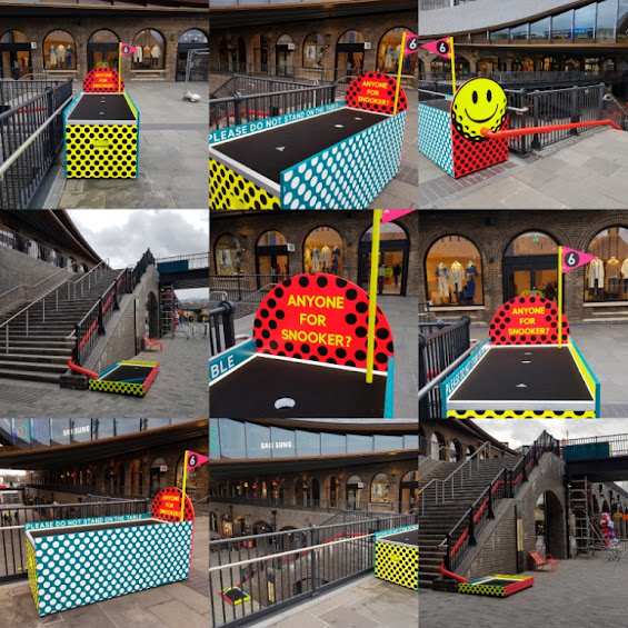 CLUB GOLF pop-up minigolf in King's Cross, London