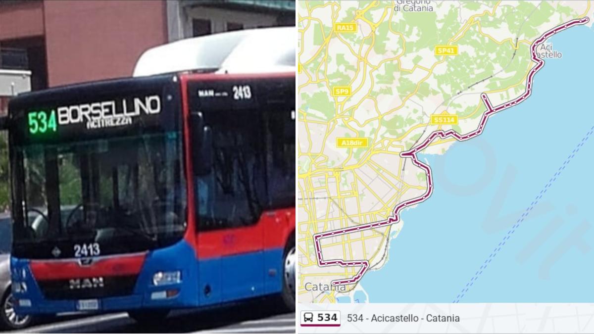 Linea 534 Catania Acitrezza Amts Comune di Acicastello