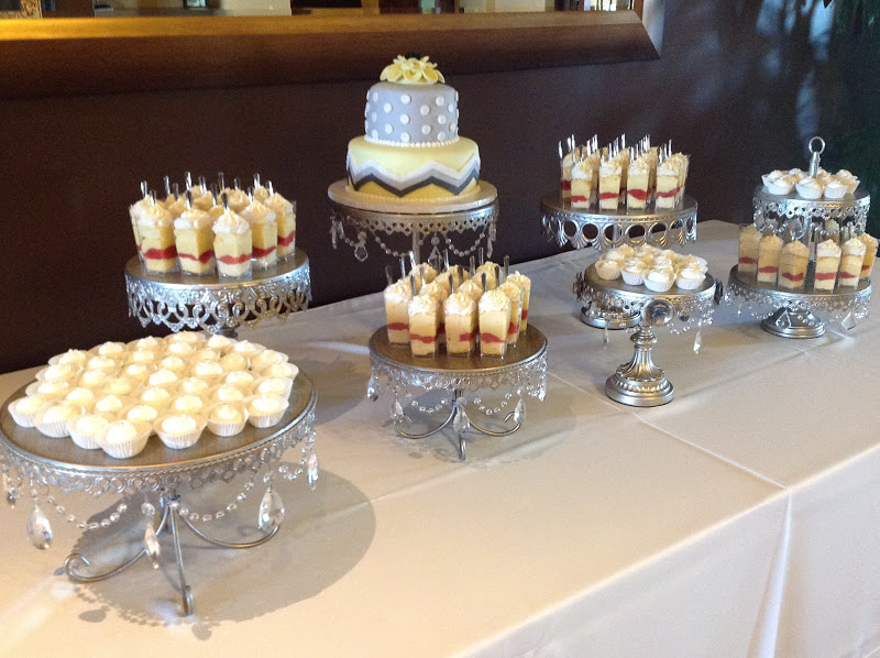 Plumeria Cake Studio Grey And Yellow Wedding Cake And Buffet