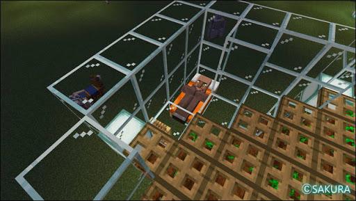 Minecraft 自動小麦農場 農民のベッドの配置