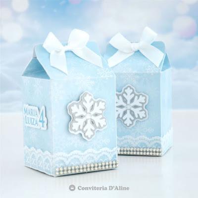 frozen caixinha lembrança personalizada