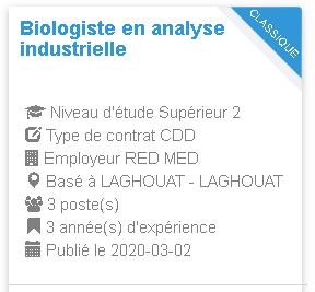 Biologiste en analyse industrielle RED MED
