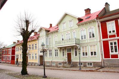 Bild på framsidan av de aktuella husen på Jacob Trahnsgatan