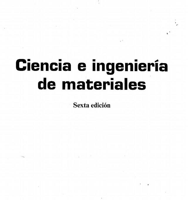 descargar libro ciencia e ingenieria de los materiales