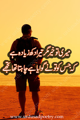 Meri To Khair Magar Tera Dukh Ziyada Hay