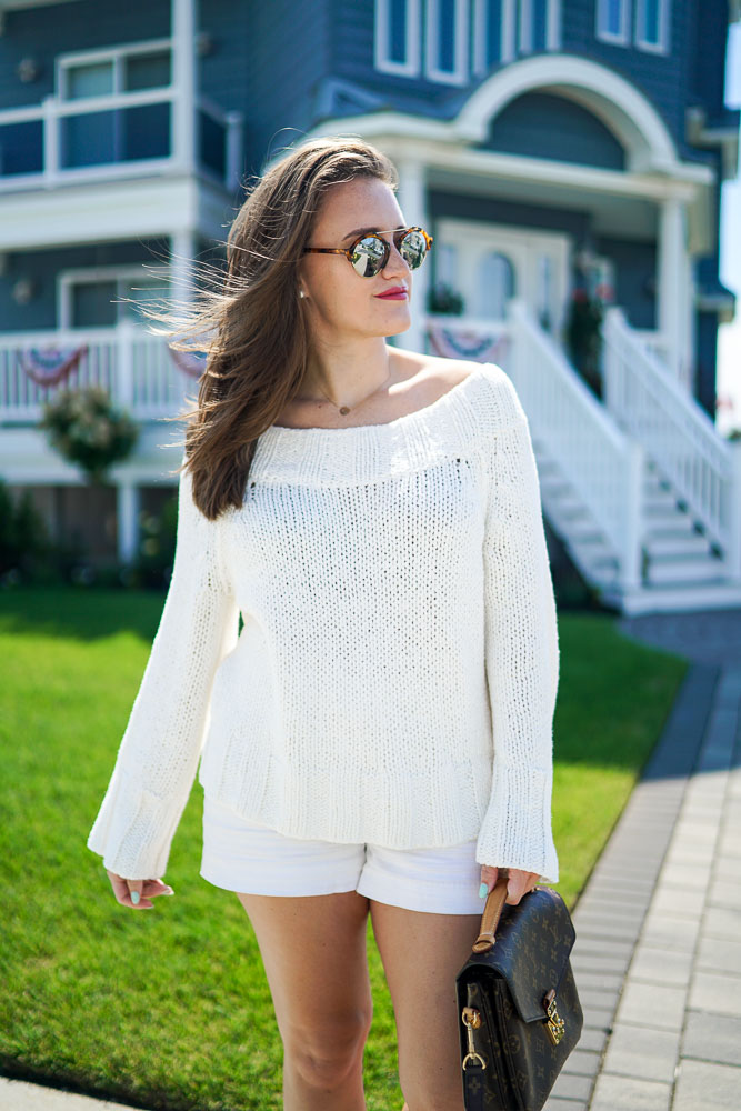 Off the Shoulder Sweater, Summer Sweaters, White Sweaters, Nantucket, Sweaters for the beach. Beach, Summer Looks, Preppy Outfits, New England Style, Free People
