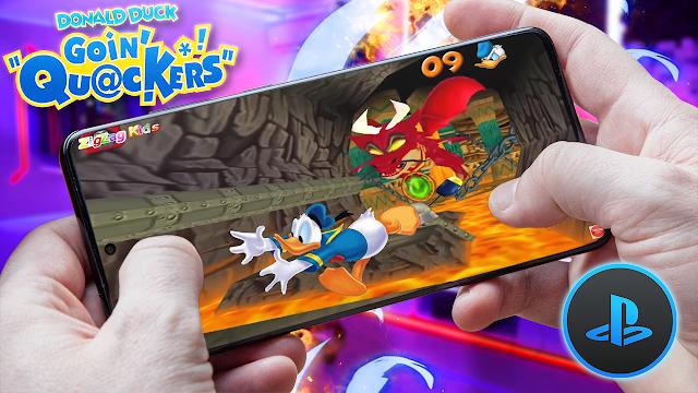 Pato Donald Quack Attack (Español) Para Teléfonos Android [ROM PS1]