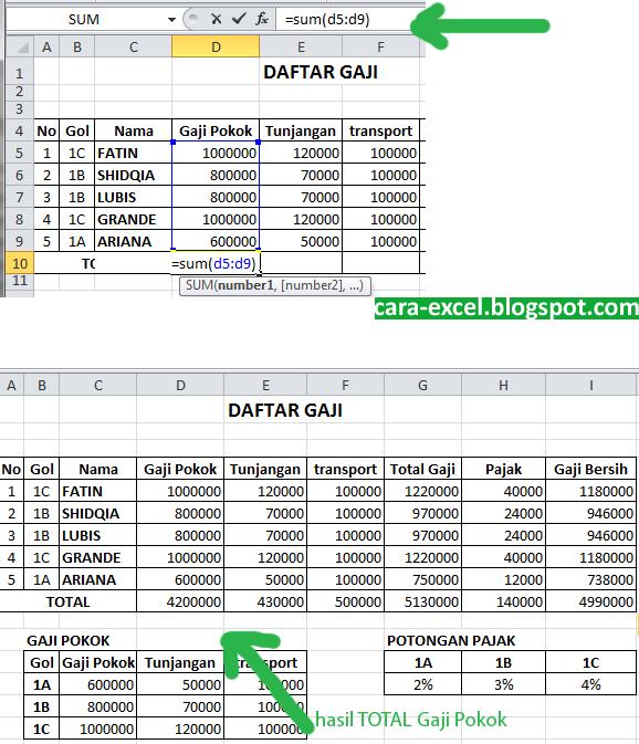 Download Contoh Soal Fungsi Hlookup Dan Vlookup Pada Excel