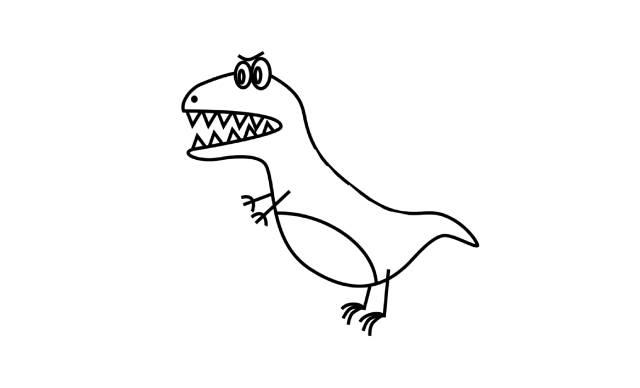 imagenes dinosaurios faciles dibujar