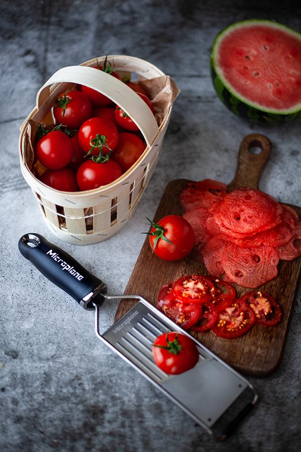 Carpaccio pastèque-tomate au citron vert