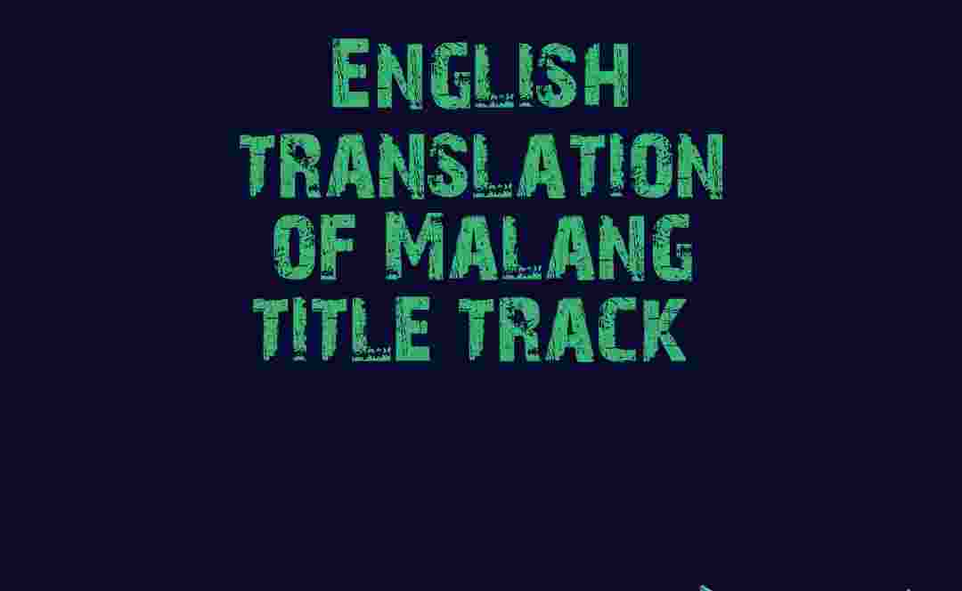 English Translation Of Malang Title Track English Version Of Malang Title Track Englishkendra