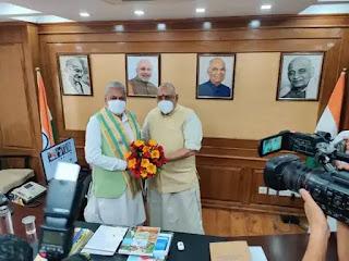 डॉ. एल. मुरुगन ने मत्स्यपालन, पशुपालन, डेयरी मंत्रालय में बतौर राज्यमंत्री के रूप में कार्यभार संभाला Dr. L. Murugan takes charge as Minister of State in the Ministry of Fisheries, Animal Husbandry, Dairying