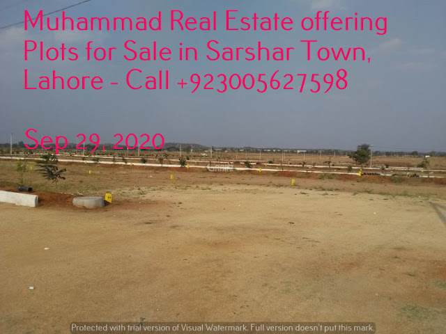 Muhammad Real Estate offering Plots for Sale in Sarshar Town