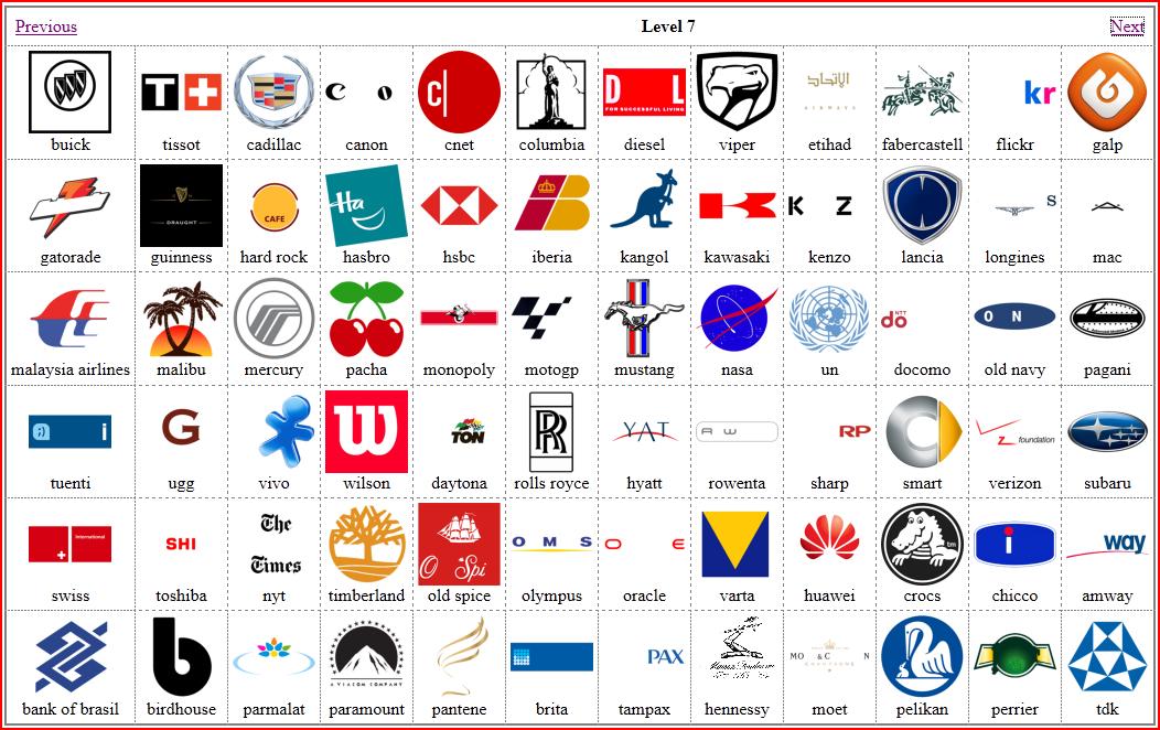 Logos Gallery Picture: Quiz Game Logos