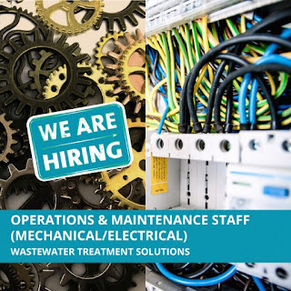 Euroteck Environmental Pvt Limited Recruitment for Operations & Maintenance Staff Mechanical/Electrical Positions in Powai Lake Mumbai.