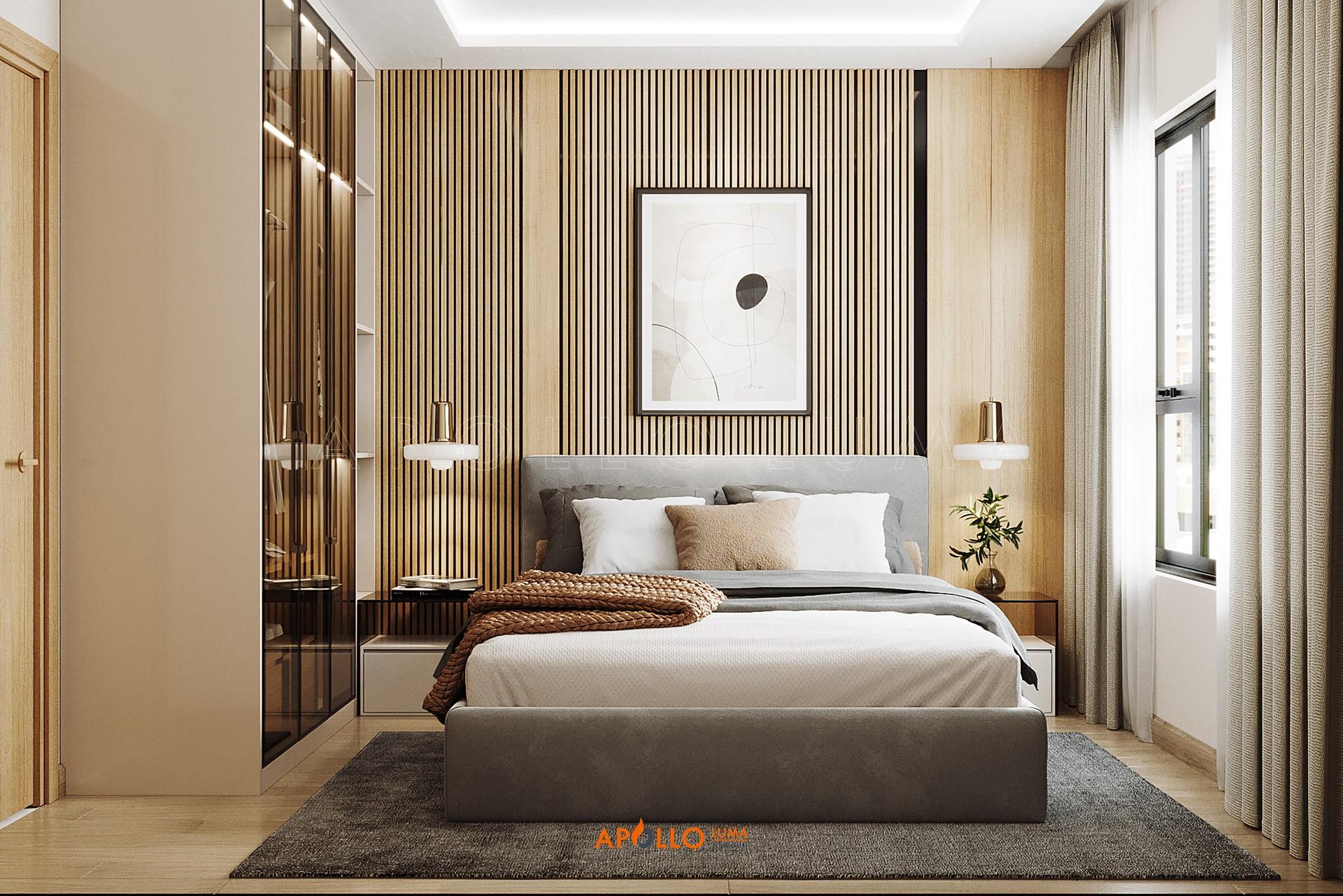 Thiết kế nội thất căn hộ 2 phòng ngủ (55m2) Tòa S1.01 Vinhomes Smart City Tây Mỗ