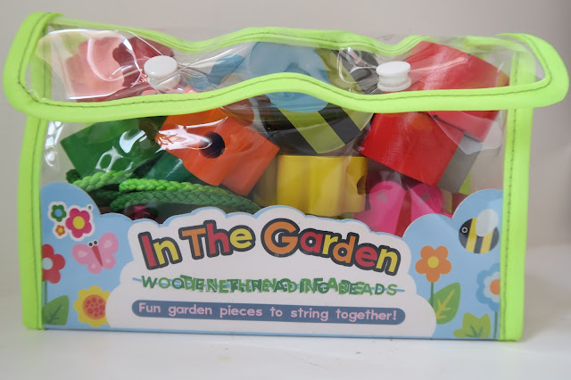 Meadow Kids In the Garden wooden threading beads packaging