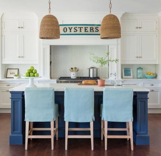 Navy Blue Kitchen Island Idea