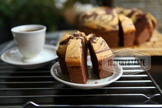 Resep Pound Cake Marmer Coklat